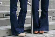 A review of the Ginger Flares jeans sewing pattern from Closet Case Files sewn by Melly Sews