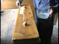 Como restaurar una vieja mesa de cocina 2ª parte - YouTube