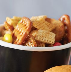 Sweet 'n' Salty Party Mix will delight any crowd. It's perfect for tailgating and for snacking while handing out candy at trick or treat time.