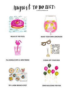 Evelyn Henson #brightlydecoratedlife to do list www.evelynhenson.com