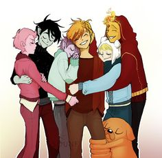 A Family❤ Prince Flame+Finn=Blake Marshall+Prince Gumball=Leo And there's uncle Jake too! Adventure Time Anime, Adventure Time Fanfiction, Marshall Lee Adventure Time, Marshall Lee X Prince Gumball, Abenteuerzeit Mit Finn Und Jake, Yuri, Adveture Time, Cartoon Ships, Flame Princess