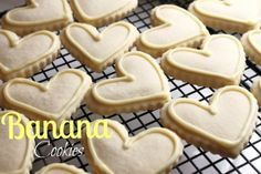 Banana Cut Out Cookies with Banana Icing - from @createdbydiane