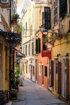 Corfu, Greece, in Technicolor Corfu Greece, Santorini Greece, Athens Greece, Greece Tourism, Greece Travel, Greece Vacation, Beautiful Buildings, Beautiful Places, Greece Architecture