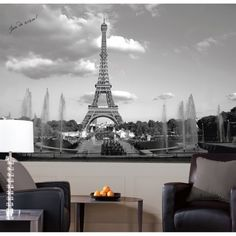 Create a scene from France from on your wall with this Eiffel Tower XL Wallpaper Mural 10.5' x 6'.