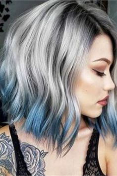 These 25 silver and platinum looks are available on Cloud Nine - Hair Color - Mo . - Hair and Beauty ✂ Medium Hair Styles, Short Hair Styles, Cool Hair Color, Short Hair Colour, Short Colorful Hair, Hair Color 2018, Beautiful Hair Color, Fine Hair, Ombre Hair