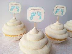 Hey, I found this really awesome Etsy listing at https://www.etsy.com/listing/197473963/cupcake-toppers-foot-prints-baby-shower