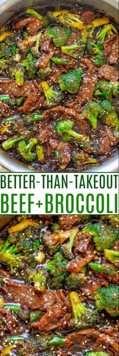 Beef and Broccoli Recipe (Better than Takeout!) - Averie Cooks - - This homemade beef and broccoli really is BETTER than takeout and it's definitely FASTER! This EASY Chinese restaurant copycat recipe is a family favorite! Beef With Broccoli Recipe, Broccoli Beef, Broccoli Recipes, Mongolian Beef And Broccoli Recipe, Beef With Broccoli Chinese, Beef Broccoli Oyster Sauce, Healthy Beef And Broccoli, Healthy Stir Fry, Healthy Food