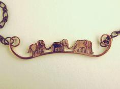 Elephant Line Pendant 3d printed