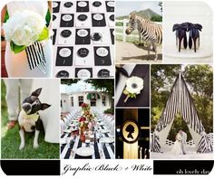 Black and White striped wedding | Black and white stripes add a classic yet modern flair to a wedding ...