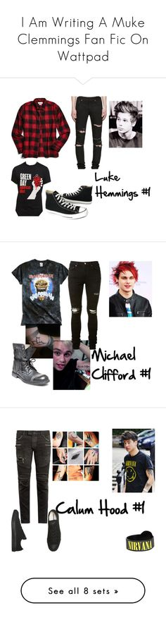 """""""I Am Writing A Muke Clemmings Fan Fic On Wattpad"""" by adelle-louise-istead on Polyvore featuring Urban Outfitters, Yves Saint Laurent, Converse, men's fashion, menswear, AMIRI, Steve Madden, Balmain, JEM and Diesel"""