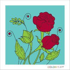Malovana  růže
