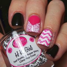 Stamping over nail vinyls