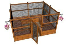 Plan for completely enclosed raised-bed arrangement-- excellent step-by-step photos at http://www.doityourself.com/forum/gardening-horticulture/386252-my-new-critter-proof-raised-garden-beds.html#b