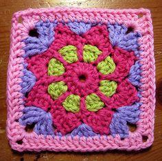 Ravelry: Free SmoothFoxs May Flower - Square 6x6 or Appliqué pattern by Donna Mason-Svara CQ ✭Teresa Restegui http://www.pinterest.com/teretegui/ ✭