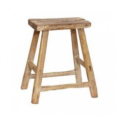 Tabouret en bois d'orme rectangulaire 33-53x21xh51cm Hubsch - Décoration intérieure et meubles design scandinave by Frenchrosa