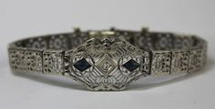 Edwardian diamond filigree bracelet.