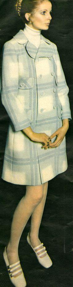 Fashion - February, 1969 1969 Fashion, Peplum Dress, February, Dresses, Vestidos, Dress, Gown, Peplum Dresses, Outfits