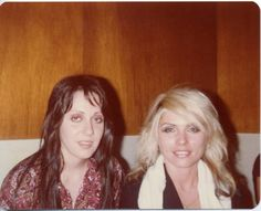 1978, backstage, Austin, my lovely wife, Lois Richwine, and the blonde with the Skunks t-shirt draped on her shoulders is Debbie Harry.
