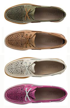 The Sperry Authentic Original Villa Boat Shoe was designed with Moroccan-inspired colors and perforations.