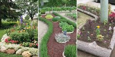 Here are 16 creative ways to make your garden edging more exciting and unique.