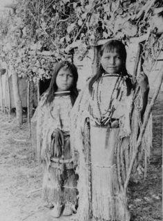 KIOWA GIRLS, circa 1900