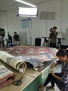 Yilong's work shop. www.yilongcarpet.com