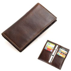 Men\'s Vintage PU Leather Soft Wallet Case Card Holder Purse Phone Bag for under 6 inches Smartphone