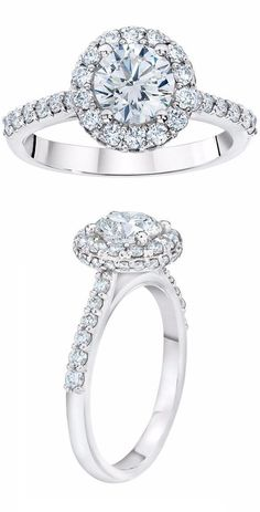 Round Brilliant 241 Ctw VS1 Clarity H Color Diamond Platinum Jackie Ring CostcoJewelry RingsWedding