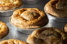 Australian Meat Pies (Onion, Ground Beef, Garlic, Red Wine, Soy Sauce, Worcestershire, thyme, nutmeg, puff pastry)