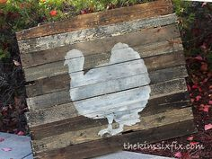 The Kim Six Fix: Thanksgiving Silhouette on Reclaimed Pallet Wood