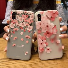 Cases, Covers & Skins Emboss Floral Relief Pattern Soft Gel Silicone Case Cover For Iphone X 8 7 6 Cute Cases, Cute Phone Cases, Iphone Phone Cases, Phone Covers, Iphone 7, Modelos Iphone, Floral Iphone Case, Accessoires Iphone, Mobile Cases