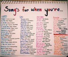 Weddings Discover Songs for when you& feeling a specific emotion playlist bullet journal Mood Songs Music Mood Upbeat Songs Good Vibe Songs What To Do When Bored Things To Do When Bored For Teens Song Suggestions Song Playlist Summer Playlist Mood Songs, Music Mood, Upbeat Songs, Good Vibe Songs, What To Do When Bored, Things To Do When Bored For Teens, Aesthetic Songs, Summer Aesthetic, Song Suggestions