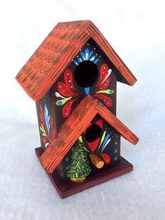 WINTER SOLSTICE BIRDHOUSE A Mini Original Hand by KrugsStudio, $21.99