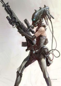 cyberpunk by dina Character Concept, Character Art, Concept Art, Character Design, Character Ideas, Cyberpunk Character, Cyberpunk Art, Hyung Tae Kim, Matte Painting
