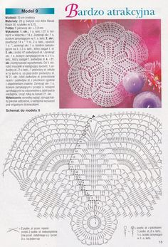 Crochet for beginners necklaces magazines 51 Ideas Filet Crochet, Crochet Doily Diagram, Crochet Doily Patterns, Crochet Stitches, Crochet Sunflower, Pineapple Crochet, Crochet Dollies, Crochet Lace, Crochet Kids Scarf