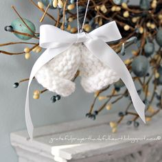 My husband's Aunt Marie enjoyed all sorts of needlework and loved gifting us with special items she made. Many years ago she knitted little bells in red and green then added curling ribbon to create a corsage to be worn on a jacket lapel during Christmas. These sweet little bells can be used in lots...Read More