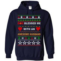 God Blessed ① Me With An Awesome Husband!!God Blessed Me With An Awesome Husband!!god,husband,awesome husband, trend tee,tshirt,christmas,