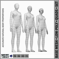 2767763ead Buy Female Base Mesh Natural Proportions in Rest Pose by vk studio on  High-quality accurate models of human female body with natural proportions  in low-poly ...