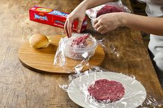 How To Make Burger Patties:  A cool technique to get perfect burger patties.