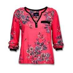 Stylish blouse in silky soft viscose, in a romantic floral print. ($33) ❤ liked on Polyvore featuring tops, blouses, pocket tops, flower print blouse, flower print tops, mexx and pocket blouse