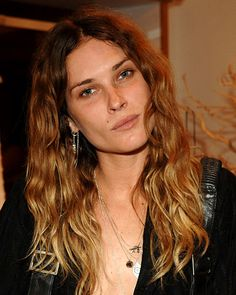 Erin Wasson model with ombre hair