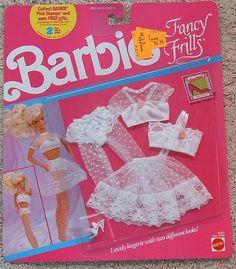 *Barbie - Barbie Fancy Frills Lingerie, (I still have this, it is so precious) Barbie Bath, Barbie Doll Set, Barbie Doll House, Barbie Toys, Barbie Dream, Diy Barbie, Free Barbie, Sewing Barbie Clothes, Barbie Clothes Patterns