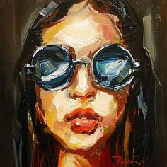 "Daily Paintworks - ""Sonnenbrille"" - Original Fine Art for Sale - © Jurij Frey"