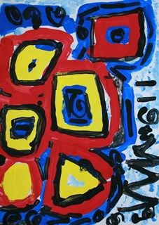 Artsonia Art Gallery - Abstract Shape Painting in Primary Colors