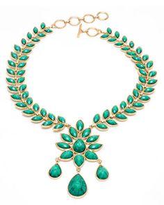 Favorite statement necklace, I wear it to death: Amrita Singh necklace. :D