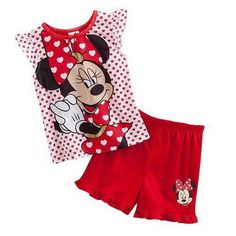 6.85$  Watch here - 2017 summer kids pajamas  girls set kid Vest+short pants cotton minnie mouse children fashion clothing Sleepwaear pajama sets   #aliexpresschina