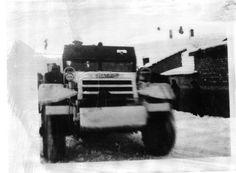 """Janvier 1945. Half-track """"Madrid"""" de la première section de combat (...)"""