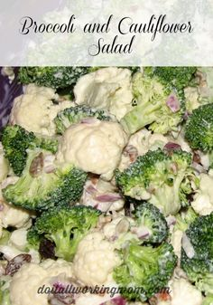 Broccoli and Cauliflower Salad Recipe - Do It All Working Mom