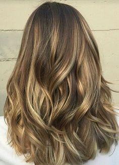 beautiful hair, waves, low lights, balayage, bronde, blonde, brunette