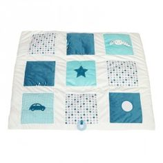 Little Dutch Activity Krabbeldecke Hase Mixed Stars Mint 85 x 49 Cubes, Picnic Blanket, Outdoor Blanket, Comforters, Kids Rugs, Activities, Quilts, Toys, Home Decor